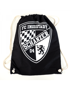 "Stoffzugbeutel schwarz ""Logo"""