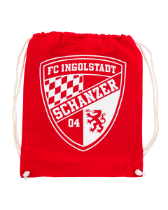 "Stoffzugbeutel rot ""Logo"""
