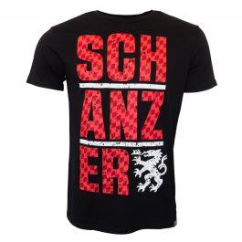 schanzer shop shirt rot auf schwarz. Black Bedroom Furniture Sets. Home Design Ideas