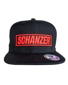 Cap Schanzer Rot auf Schwarz