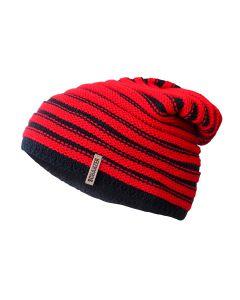 Mütze Schwarz-Rote Streifen