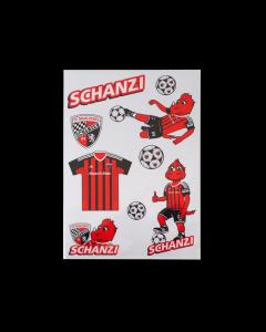 Aufkleberkarte Schanzi