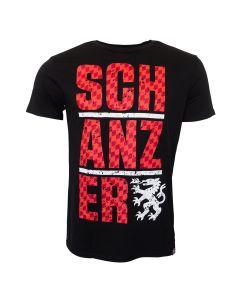 Shirt Rot auf Schwarz
